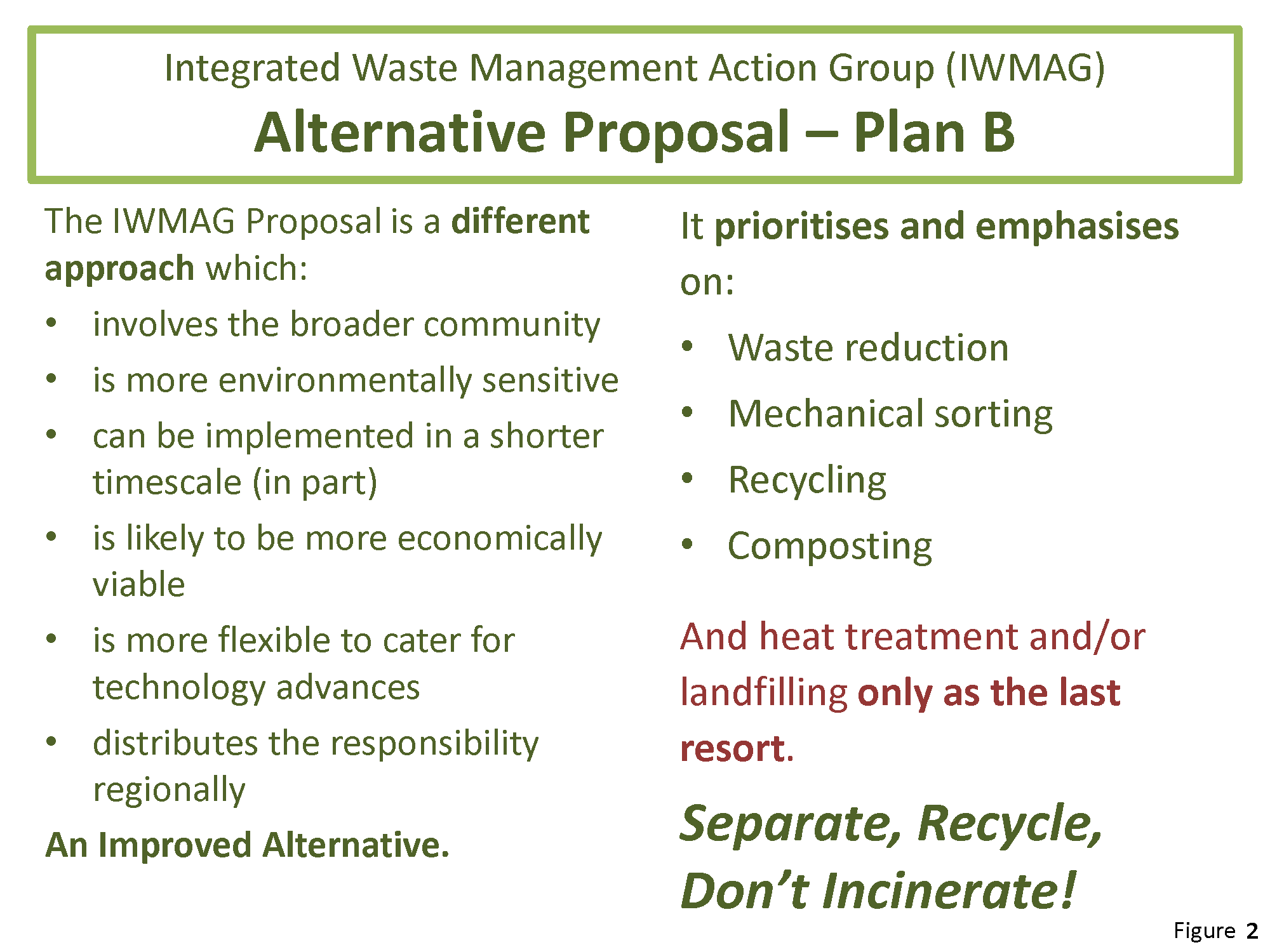 Integrated waste management action group iwmag for Waste management plans template